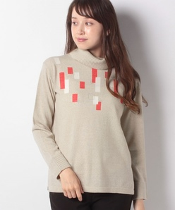 14G 天竺インターシャ ホットフィットセーター