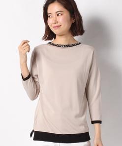 【アンサンブル対応】14G 天竺×ビーズ・スパンコール 刺繍セーター