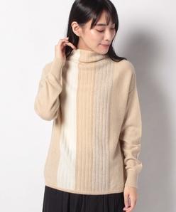 GOBIカシミヤ 天竺表目×リンクス編みセーター