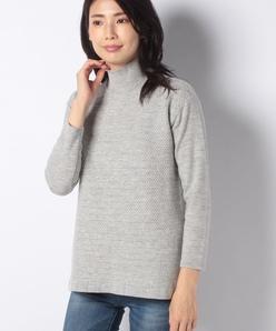 12G 天竺×柄編ハイネックセーター