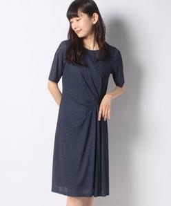 【洗える】【セットアップ対応】シャリアートデニムプリント ドレス