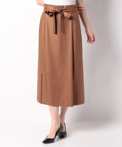 【洗える】麻調 バスケットスカート