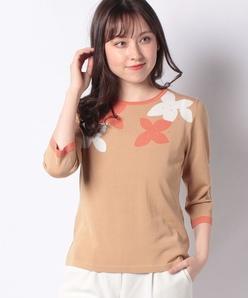 【洗える】天竺インターシャセーター
