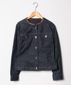 【大きいサイズ/洗える】ハイパーデニムジャケット