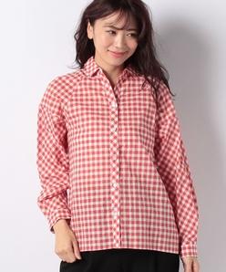 【洗える】ギンガムチェックシャツ