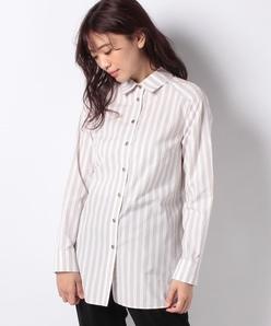 【洗える】サイロストライプシャツ