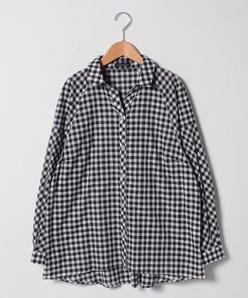 【大きいサイズ/洗える】ギンガムチェックシャツ