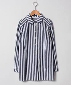 【大きいサイズ/洗える】サイロストライプシャツ
