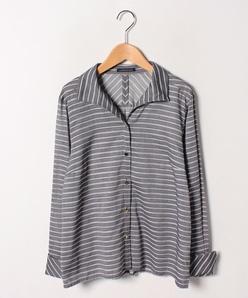 【洗える】ツイルマルチボーダーシャツ