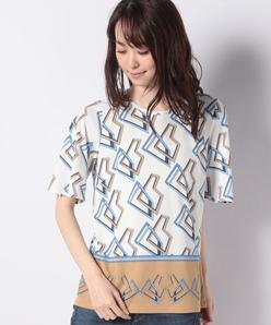 【洗える】ポリスムースパネルプリントTシャツ