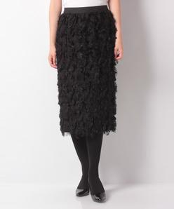 ロングカットジャカードタイトスカート
