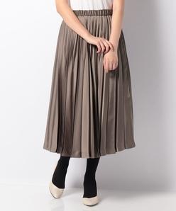 【TV着用】サテンプリーツスカート
