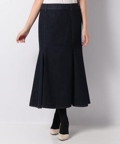 【洗える】ワンウォッシュデニム マーメイドスカート