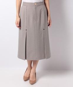 【洗える】千鳥チェックボックスプリーツスカート
