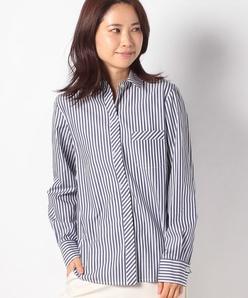 【洗える】ロンドンストライプ コットンシャツ