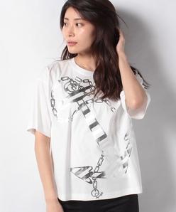 【洗える】コットンスムース プリントTシャツ