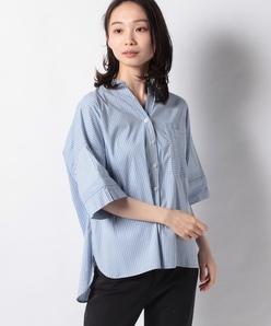 【洗える】ストライプ ショートスリーブシャツ