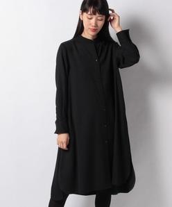 【洗える】トリコチン シャツドレス