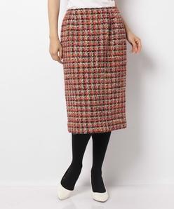 【セットアップ対応】GIOLICAツイードタイトスカート