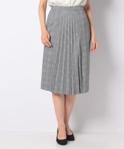 【セットアップ対応】トラッカーホワイトブラックタイトスカート