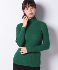 リブ編み タートルネックセーター