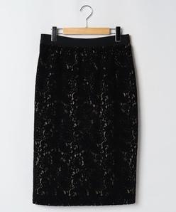 【大きいサイズ】モールレースタイトスカート