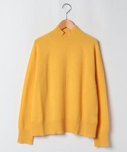 【大きいサイズ】【洗える】カシミヤ ハイネックセーター