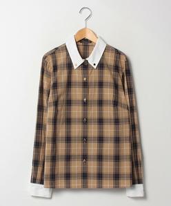 【大きいサイズ】【洗える】トラッドチェック クレリックシャツ