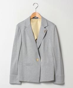 【大きいサイズ】【セットアップ対応】グログランジャージー テーラードジャケット
