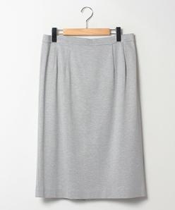 【大きいサイズ】【洗える】【セットアップ対応】グログランジャージー タイトスカート