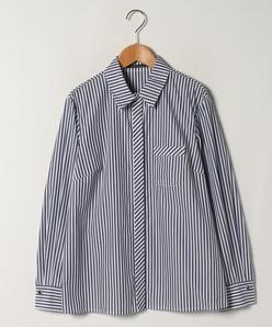 【大きいサイズ】【洗える】ロンドンストライプ コットンシャツ