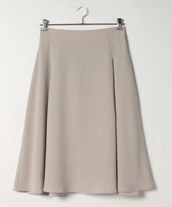 【大きいサイズ】【洗える】バックサテン フレアスカート