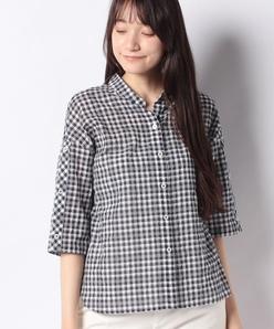 【洗える】サッカーギンガムチェック オーバーシャツ