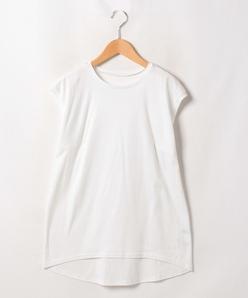 【大きいサイズ】【洗える】スーピマスムース ノースリーブTシャツ