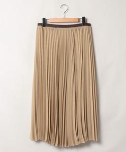 【大きいサイズ】クレープシフォン プリーツスカート
