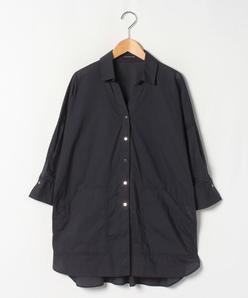 【大きいサイズ】【洗える】コットンタイプライター パンチングシャツ