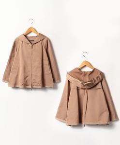 【大きいサイズ】ポリエステルグログランショートジャケット