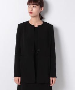 【オールシーズン・喪服・礼服・フォーマル用】ボーダー生地ドレスレット付きジャケット