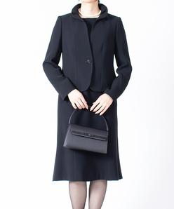【オールシーズン・喪服・礼服・フォーマル用】フリル襟アンサンブル・セットアップ
