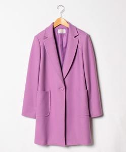 【大きいサイズ】ウールメルトン ミドル丈コート