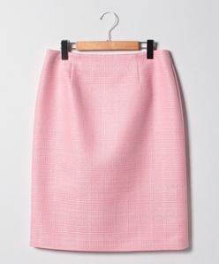 【大きいサイズ】【セットアップ対応】ファンシーツイード タイトスカート