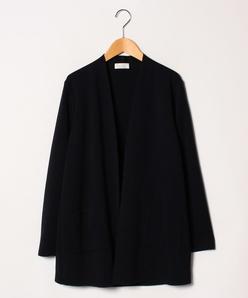 【大きいサイズ】NADIA ミラノリブノーカラーニットジャケット