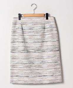 【大きいサイズ/セットアップ対応】コットンカラーミックスツィード スカート