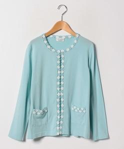 【大きいサイズ/アンサンブル対応】ARINA カギ針編みモチーフ カーディガン