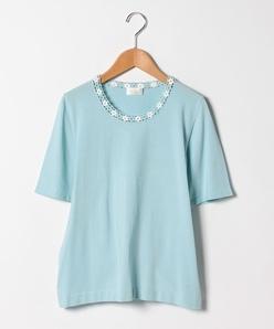 【大きいサイズ/アンサンブル対応】ARINA カギ針編みモチーフ プルオーバー