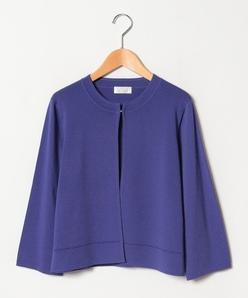 【大きいサイズ】ゴム編みボレロ
