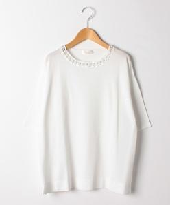 【大きいサイズ】SONA かぎ針編みプルオーバー