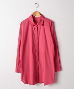 【大きいサイズ】コットンブロードストレッチ/チュニックシャツ