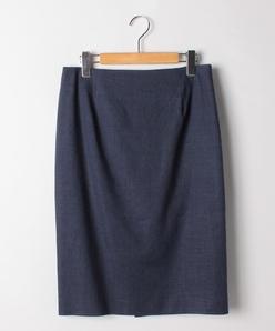 【大きいサイズ】【セットアップ対応】麻混ドビーストレッチ タイトスカート