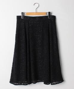 【大きいサイズ】コード刺繍レーススカート